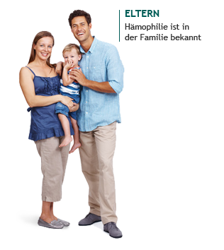 Eltern – Hämophilie bekannt
